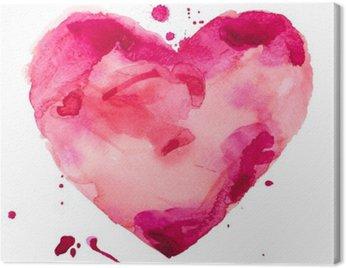 Canvastavla Vattenfärg hjärta. Concept - kärlek, relationer, konst, målning