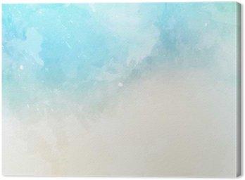 Canvastavla Vattenfärg textur bakgrund