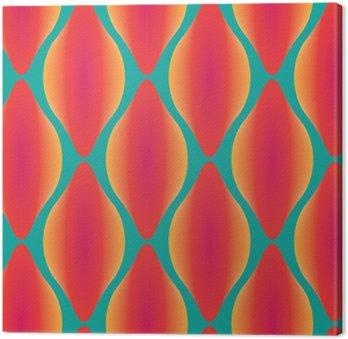 Canvastavla Vektor färgrik abstrakt samtida seamless geometriska mönster