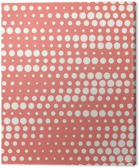 Canvastavla Vektor illustration av sömlösa halvton bakgrund i rött pastellfärger