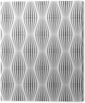 Canvastavla Vektor smidig konsistens. Modern abstrakt bakgrund. Geometriska mönster av prickar.