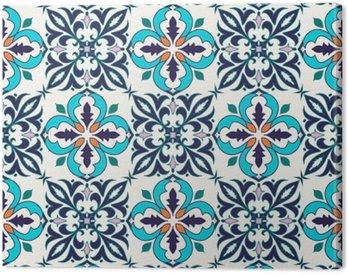 Canvastavla Vektor smidig konsistens. Vackra färgade mönster för design och mode med dekorativa element