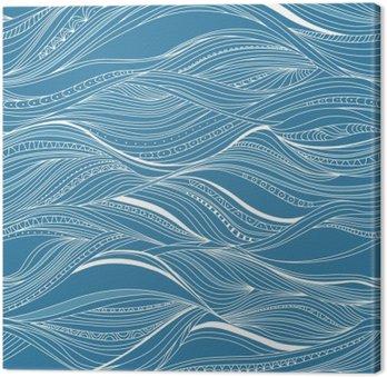 Canvastavla Vektor sömlösa abstrakt mönster, vågor