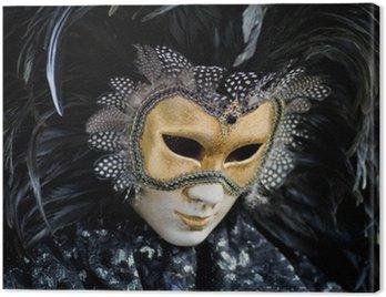 Canvastavla Venedig karneval kostym mask