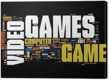 Canvastavla Videospel