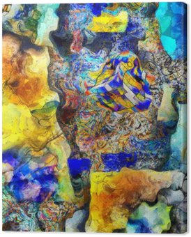 Canvastavla Vinkel Abstrakt