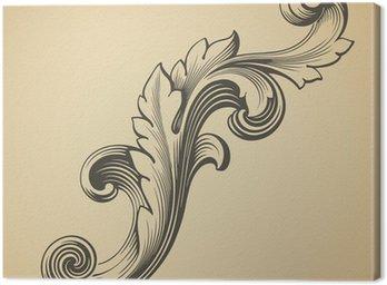 Canvastavla Vintage barock mönster vektor designelement