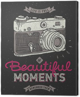 Canvastavla Vintage fotokamera
