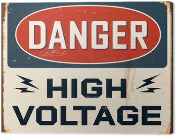 Canvastavla Vintage Metal Sign - Vector - Grunge effekter kan tas bort