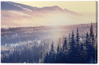 Canvastavla Vinter berg