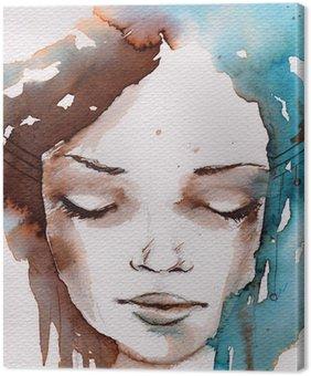 Canvastavla Vinter, kallt porträtt