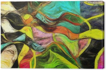 Canvastavla Virvlande former, färg och linjer