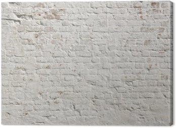 Canvastavla Vit Grunge tegel vägg bakgrund