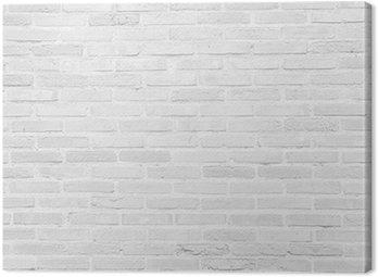 Canvastavla Vit grunge tegelvägg konsistens bakgrund