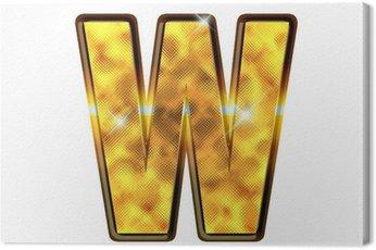 Canvastavla W - Alphabet lettre de luxe