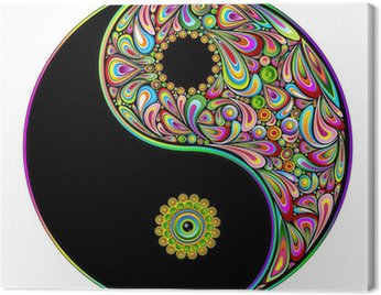 Canvastavla Yin Yang symbol Psychedelic Art Design-Simbolo Psichedelico