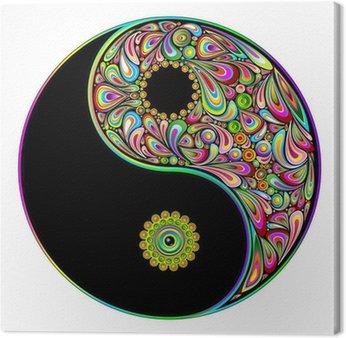 Canvastavla Yin Yang symbol Psychedelic Art Design-Simbolo Psichedelico