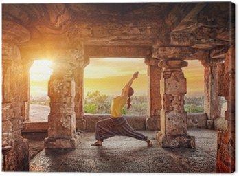 Canvastavla Yoga i Hampi tempel