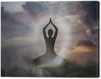 Canvastavla Yoga och andlighet