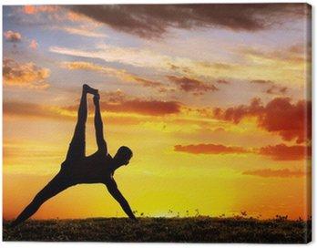 Canvastavla Yoga silhuett Vasisthasana planka pose