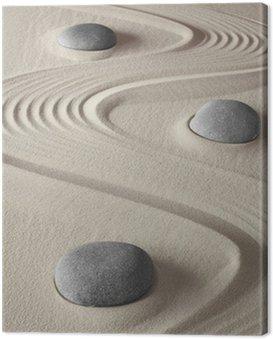 Canvastavla Zen trädgård