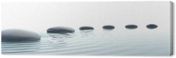Canvastavla Zen väg stenar i widescreen