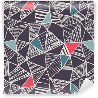 Carta da Parati a Motivi Pixerstick Abstract seamless pattern di doodle