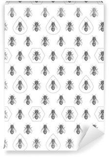 Carta da Parati a Motivi Pixerstick Api texture. Seamless pattern.