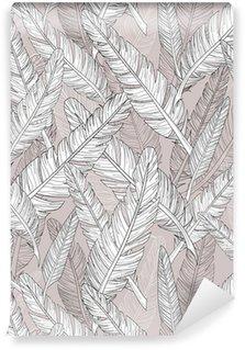 Carta da Parati a Motivi Pixerstick Astratto modello di piume. Seamless pattern.