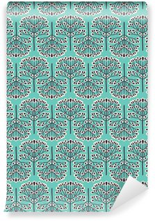 Carta da Parati a Motivi in Vinile Foresta Seamless pattern