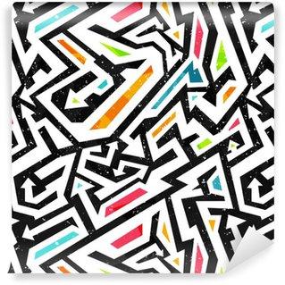 Carta da Parati a Motivi Pixerstick Graffiti - seamless pattern