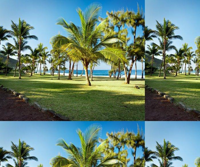 Carta da Parati a Motivi in Vinile Grande Anse Beach - Reunion - Vacanze