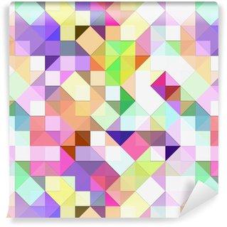 Carta da Parati a Motivi in Vinile Luminoso mosaico pastello