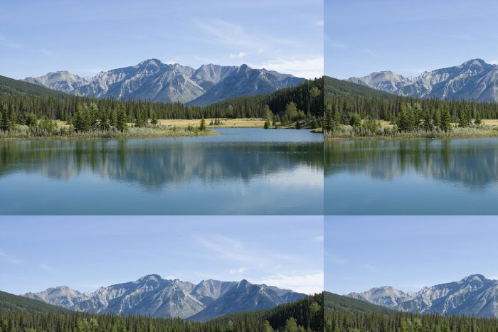 Carta da Parati a Motivi in Vinile Parco Nazionale di Banff Cascade Pond - Montagne