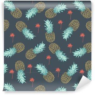 Carta da Parati a Motivi in Vinile Pineapple seamless pattern