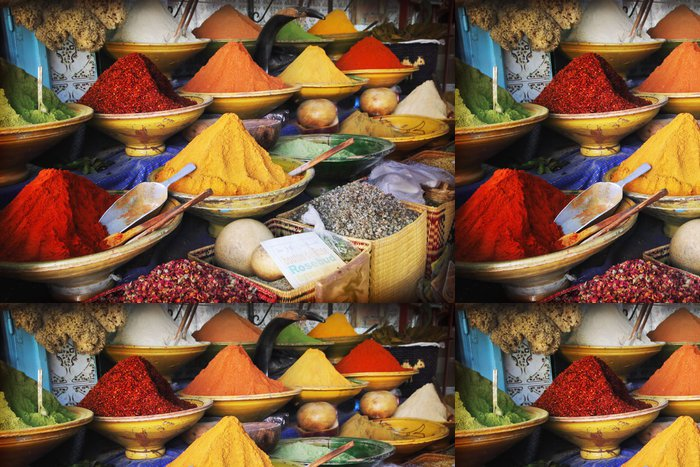 Carta da Parati a Motivi in Vinile Spice Market -
