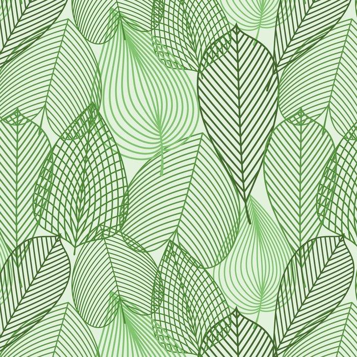 Carta da parati a motivi in vinile verde primavera foglie for Carta da parati vinile