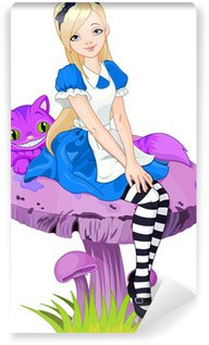 Carta da Parati in Vinile Alice in wonderland