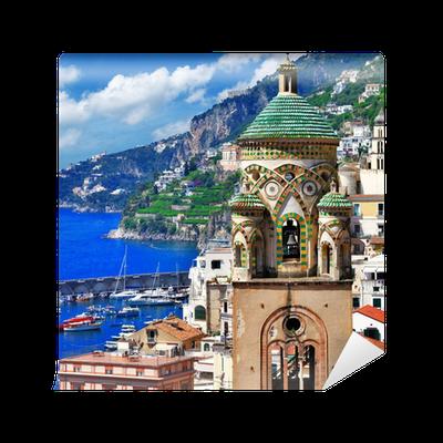 Carta da parati amalfitana italia vedi con la chiesa for La parati italia
