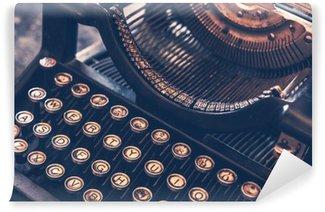 Carta da Parati in Vinile Antica Macchina da scrivere
