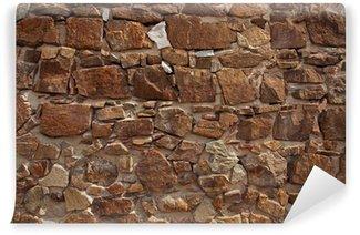 Carta da Parati in Vinile Antico muro fatto di molti mattoni