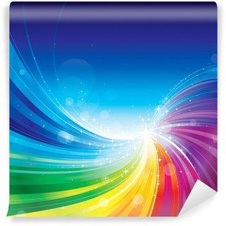 Carta da Parati in Vinile Arcobaleno astratto i colori di sfondo onda.