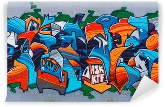 Carta da Parati in Vinile Arte di strada sul muro