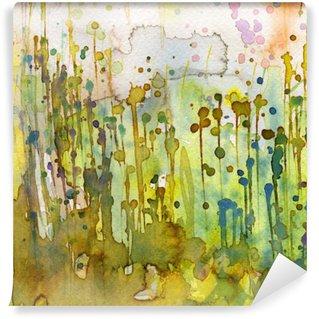 Carta da Parati in Vinile Artistico sfondo acquerello,