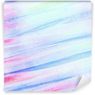 Carta da Parati in Vinile Astratti artistico acquerello pennellate