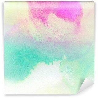 Carta da Parati in Vinile Astratto colorato acquerello dipinto sfondo