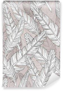 Carta da Parati in Vinile Astratto modello di piume. Seamless pattern.