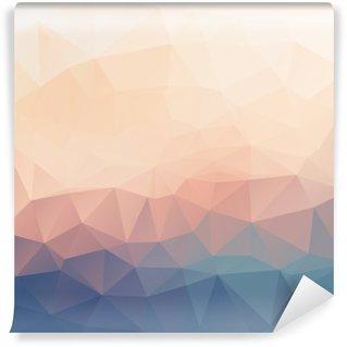 Carta da Parati in Vinile Astratto poligonale sfondo con texture.