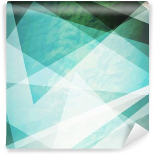 Carta da Parati in Vinile Astrazione retrò triangoli Grunge vettore sfondo