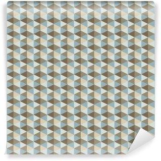 Carta da Parati Autoadesiva Astratta retrò pattern geometrico